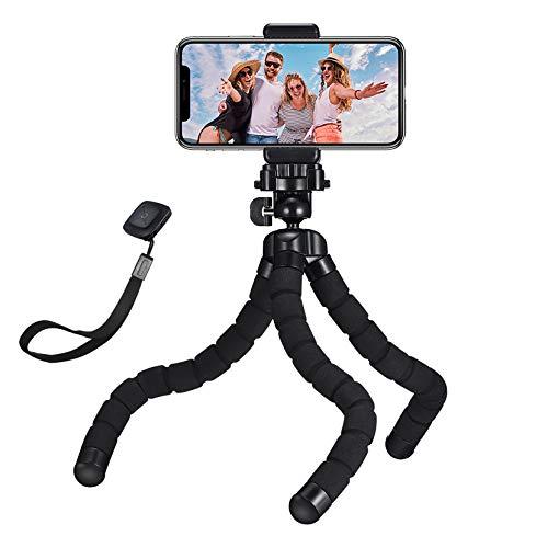 Mpow Handy Stativ Monkeystick Mini Stativ Kamera mit Bluetooth Fernsteuerung, Flexibles Handystativ für Gopro, Smartphone und Kamera, iPhone 11/11 PRO MAX/XR/X/ 8/7/6, Galaxy Note 10/ S9, usw.
