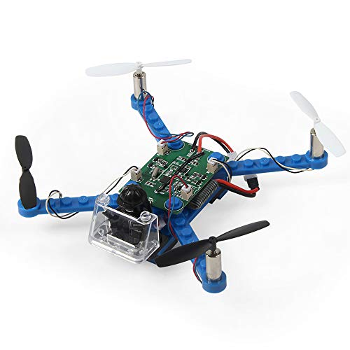 DIY Drohne Bausteine 2,4 GHz Fernbedienung Drohne, Mini-Drohne GPS-Drohne mit Kamera für Erwachsene, Bauen Sie es selbst und fliegen,Blau
