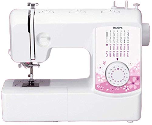 YLJYJ Herramientas de reparación 27 Stitch Portable Household Electric Multi-Function Sewing Machine Double-Line Two-Speed Reverse Stitch Pedal Table (Máquina de Coser)