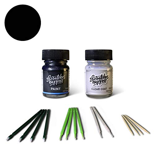 ScratchesHappen Exact-Match Touch Up Paint Kit Compatibel met Ford/Lincoln Ebony Zwart (BX/UB/UD/YD/M6018A/M6373A/M6877A/NN) Essential