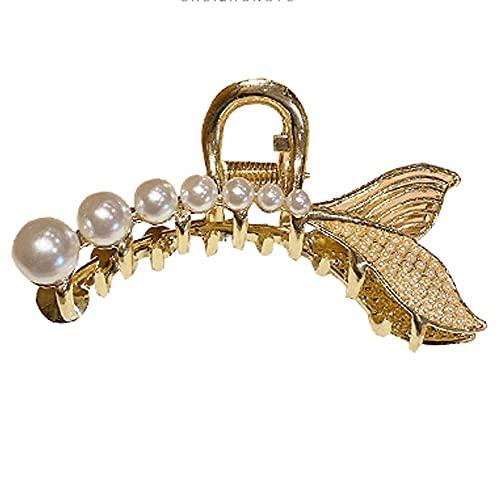 GSJCY Pinza de Pelo de Mujer de Metal Perlado Pasador geométrico Barrette Hairpin Gold Accesorios para el Cabello Herramientas de joyería de Estilo de Moda