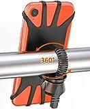 TEUMI Support de téléphone de vélo rotatif à 360° universel en silicone pour moto, téléphone portable, vélo, GPS compatible avec iPhone 11 Pro Max/X/XS MAX/XR/8/8 Plus, Samsung S20/S10/S10e