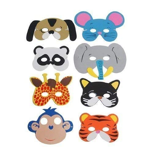 Party Bags 2 Go Doux Animal Masques, 8 Assorties