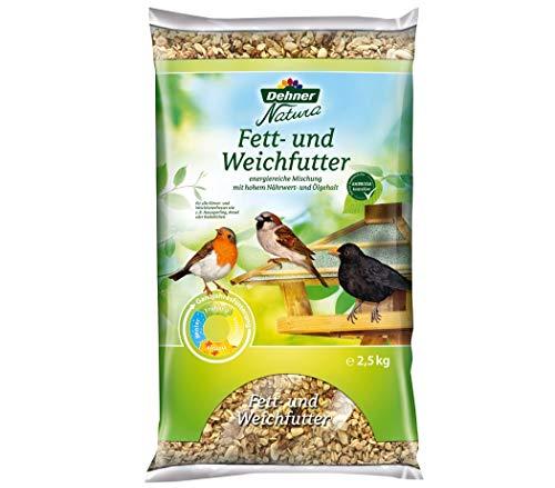 Dehner Natura Wildvogelfutter, Fett- und Weichfutter, 2,5 kg
