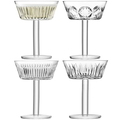 LSA International des Tatras Champagne/Verre à Cocktail 250 ML Clair/Assortiment des Coupes X 4, Clair, Lot de 4