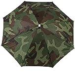 Women Men Umbrellas Fishing Hiking Golf Beach Headwear Hands Free Umbrella - Camo