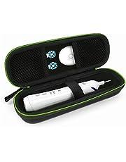 NEUE DAWN Estuche de viaje funda cepillo portátil para Braun Oral-B cepillo de dientes eléctrico, bolsa de viaje para Philips cargador de afeitadora y de cepillo dental, resistente a golpes y polvo