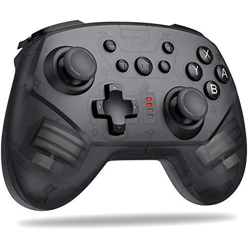 Controlador de switch sem fio para Nintendo Switch/Switch Pro, Gamepad remoto Pro Controller Joypad para console de switch Nintendo, Suporte Turbo, Controle de vibração e movimento para Switch Pro
