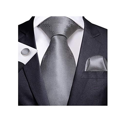 NXYJD Moda Hombres Corbata Corbata de Boda de Seda para Hombre diseñador de Regalo Conjunto (Color : D)