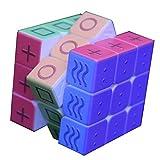 Xcc Puzzle- Caja de Pandora Cubo 3D para los Ciegos, Ciegos Braille 3x3x3 Huellas Dactilares Velocidad Cubo del Rompecabezas en Relieve la Personalidad de los niños