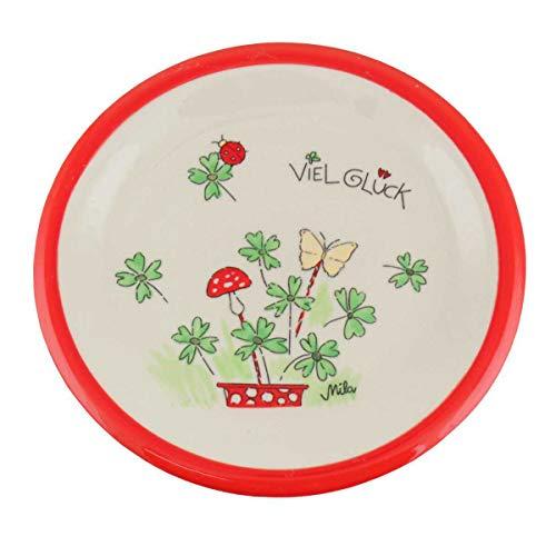 440s Mila Keramik-Teller Viel Glück   MI-84196   4045303841963