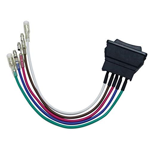 Qimao Universal de 5 Pines Ventana de energía del Interruptor Ventana de Coche eléctrico Interruptor de elevación con indicador de 12V 24V, luz Verde