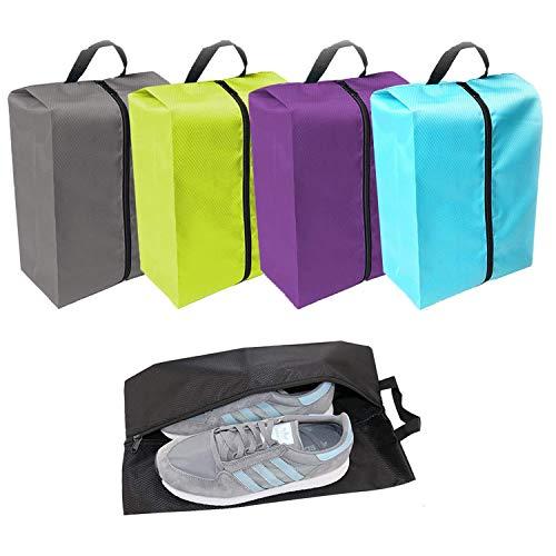 Yzbtj Bolsa De Almacenamiento De Zapatos De 5 Piezas, Bolsa De Viaje Portátil Impermeable para Zapatos, Organizador De Zapatos De Nailon Grande para Hombres Y Mujeres, Viajes Y Uso Diario