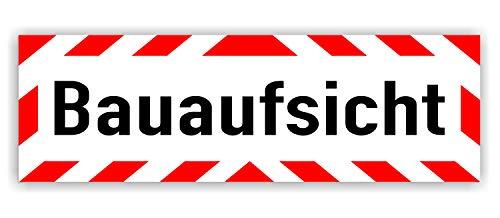 LOHOFOL Magnetschild Bauaufsicht | Schild magnetisch | lieferbar in DREI Größen (45 x 15 cm)