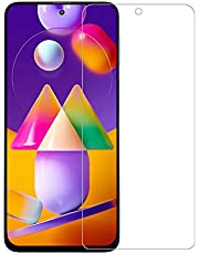 Temperia Tempered Glass for Samsung Galaxy M31s / A51 (Transparent) with Front Camera Punch Hole; Full Screen Coverage (Except Edges) ; Pack of 1
