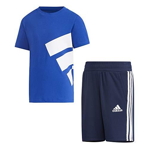 adidas GP0387 LK Brand Tee SE Tuta da Ginnastica Unisex - Bambini Team Royal Blue/Collegiate Navy 910A