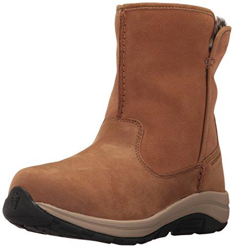 Columbia Women's Bangor Slip Omni-Heat Ankle Boot, elk, Oxford tan, 10.5 Regular US