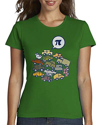 latostadora - Camiseta Pi para Mujer Verde XXL