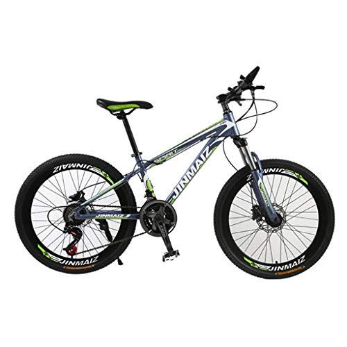 Bdclr Mountainbike, 21 versnellingen, dubbele schijfrem, schijfrem, verende voorvork, aluminiumlegering, mountainbike, dames, 24 26 inch (66 cm)