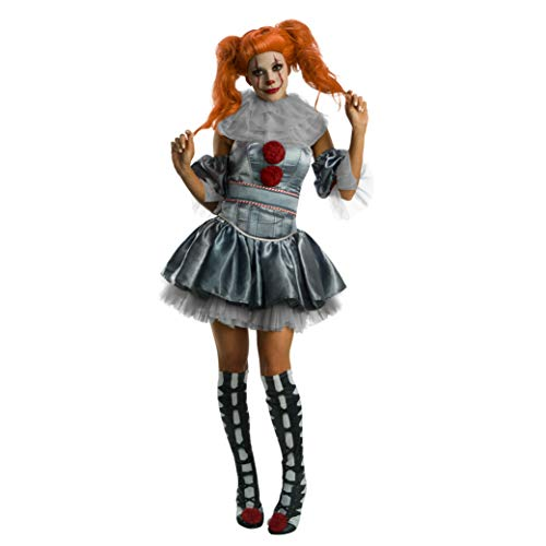 Rubies Disfraz oficial de payaso Pennywise IT para mujer, película Pennywise para adultos, tamaño pequeño