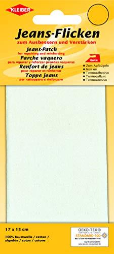 Kleiber Jeans-Bügelflicken weiß