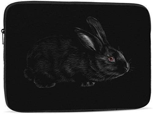 Portrait of A Bat - Funda para ordenador portátil compatible con 10 – 17 pulgadas, diseño de retrato de un conejo, 17 pulgadas