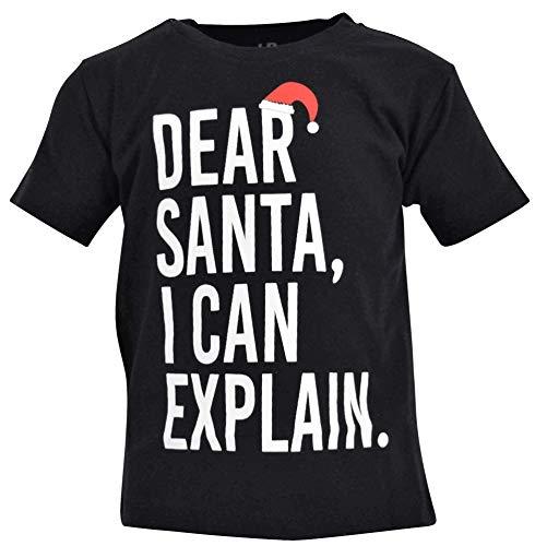 Unique Baby Boys Santa I Can Explain Christmas Shirt (5t) Black