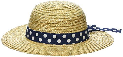 maximo Hut, Band Mit Punkte Chapeau De Soleil, Multicolore (Natur/Navy 2448), 49 Bébé Fille