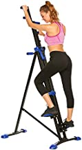 ANCHEER Vertical Climber for Home Gym Fitness,Folding Versa Climbing Exercise Machine,Cardio Workout Machine Stair Stepper,Compact Stair Climber,Adjustable Height with LCD Display. (Blue)