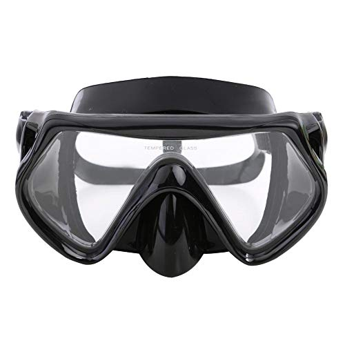 Ahomi duikmasker duiken snorkel watersport zwemmen siliconen bril Eén maat zwart