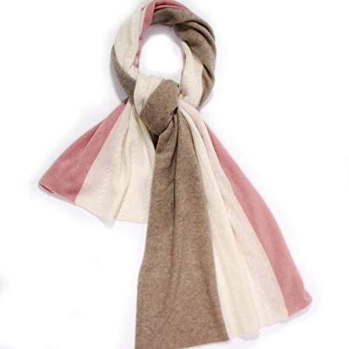 VISON Damessjaal,sjaal voor dames, lange halsdoek, zacht, warm, hoge kwaliteit, sjaals, winter, klassiek, kasjmier, strepen, gebreide sjaal, poncho cape