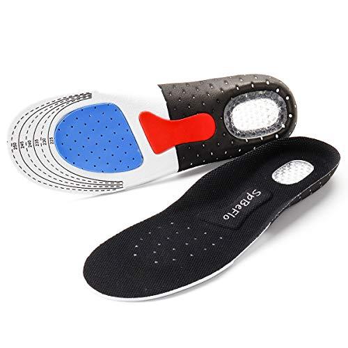 SpBeFlo Gel Einlegesohlen Fersensporn, Gelsohlen Schuheinlagen Schweißfüße gegen Druckschmerz für Alltag Sport Outdoor, 1 Paar,  (Größe M für 36-41)