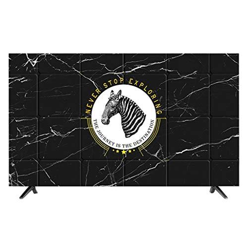 HBLZG Cubierta del televisor Anti estático Poliéster Caja del Panel LCD/LED/HD Pantalla Funda Protectora de Pantalla Compatible con PC, computadora de Escritorio y TV (Color : I, Size : 47-50 Inches)