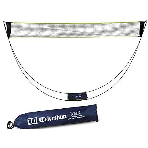 Tragbares Badminton-Netz für Garten und Ständer Tragetasche Badmintonnetz und Ständer Volleyballnetz für Outdoor Indoor Strand Sport