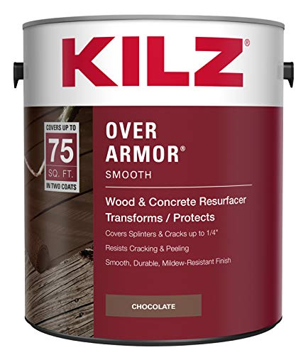 KILZ Over Armor Smooth Wood/Concrete Coating, 1 gallon,...