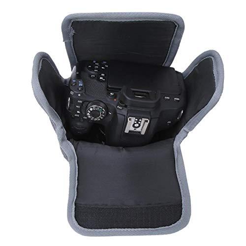 FECAMOS Bolsa de nylon para câmera à prova de poeira para câmera Nikon mirrorless (cinza)