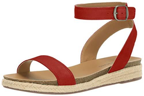 Price comparison product image Lucky Brand Women's GARSTON Flat Sandal,  Garnet,  6 M US