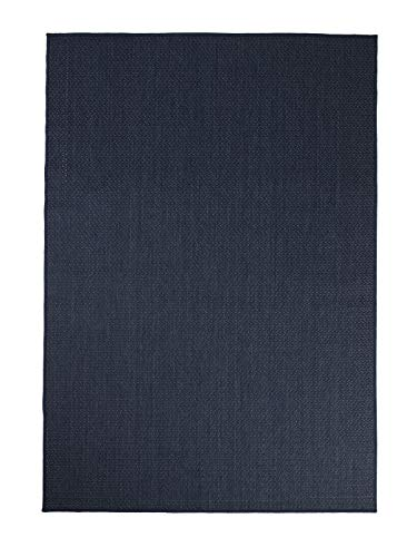 Furnish My Place Outdoor Collection Accent Area Rug - 5 ft. 3 in. x 7 ft. 6 in. Navy, Minimalistic Waterproof Rug for Living Room, Garden, Patio