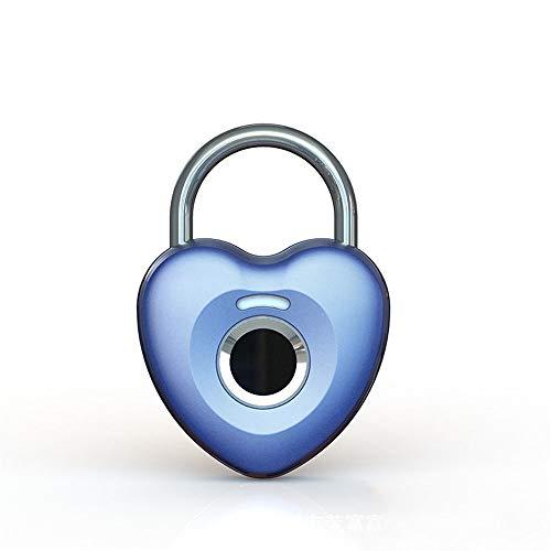 Jianghuayunchuanri Candado Inteligente Padlock Padlock Smart Touch Lock Metal Impermeable Smart Keyless Gym Locker Ideal para Interior-Exterior (Color : Silver, Size : 60mm)