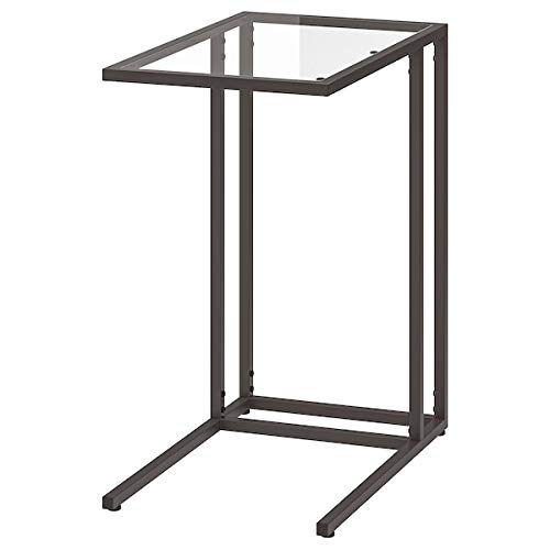 UK Bargain Seller VITTSJÖ - Soporte para portátil (cristal, 35 x 65 cm), color negro y marrón