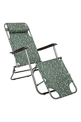 Mountain Warehouse Chaise Pliante Sunlounger de Camping - Légère et Robuste pour l'été avec Courroie de Transport - pour Voyages, Plage, Plein air, Pique-niques, Piscine Kaki Taille Unique