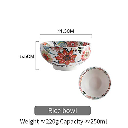 RAP Glasur Schüssel Teller Reis Gemüsesuppe Nudel Schüssel Sauce Servierplatte Geschirr SetReisschüssel