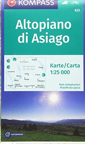 Carta escursionistica n. 623. Altopiano di Asiago 1:25.000: Wander- und Radkarte. Carta escursionistica e cicloturistica