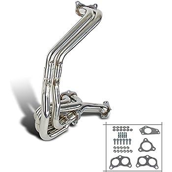Spec-D Tuning HH2-WRX02-DK Subaru Impreza WRX 2.0/2.5L DOHC Engine S/S Manifold Exhaust Header+Up Pipe