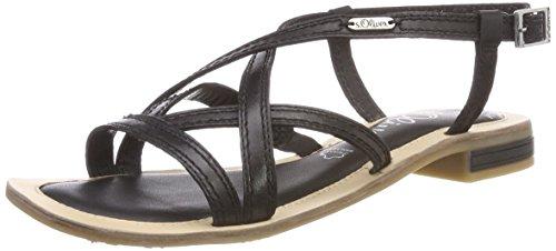 s.Oliver Damen 28120 Slingback sandalen, schwarz (black), 37 EU