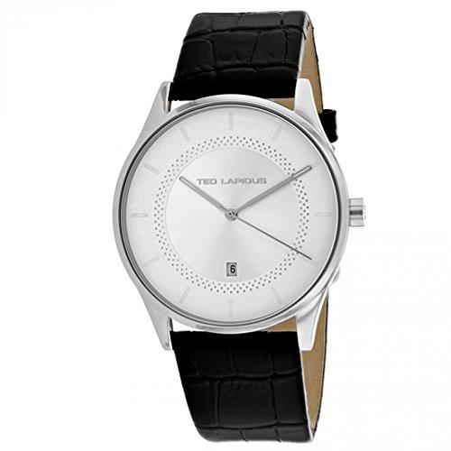 Ted Lapidus Men's Classic 41mm Leather Band Steel Case Quartz Watch 5131906