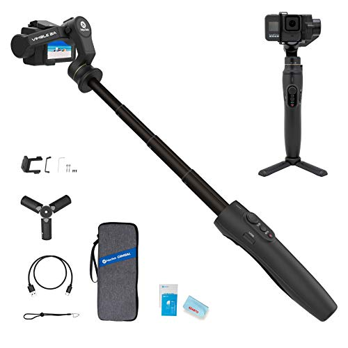 3-Axis Action Camera Gimbal Stabilizer for GoPro Hero 8/7/6/5, WiFi Connection, Handheld Gimbal Selfie Stick for SJCAM YI-CAM, 18cm Extendable Pole...
