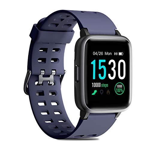 CHEREEKI Reloj Inteligente, Smartwatch Impermeable IP68 Pulsera Actividad 1.3 Pulgada con Monitor de Ritmo cardíaco, Podómetro, Control de música, Reloj Actividad para Xiaomi Huawei iPhone
