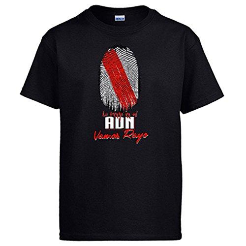 Diver Camisetas Camiseta lo Tengo en mi ADN futbolero de Rayo - Negro, XL