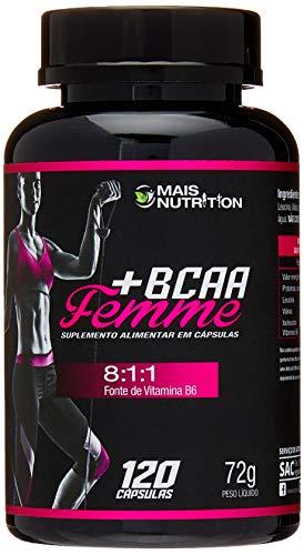 Mais Nutrition BCAA Femme 8:1:1 800mg 120 capsulas